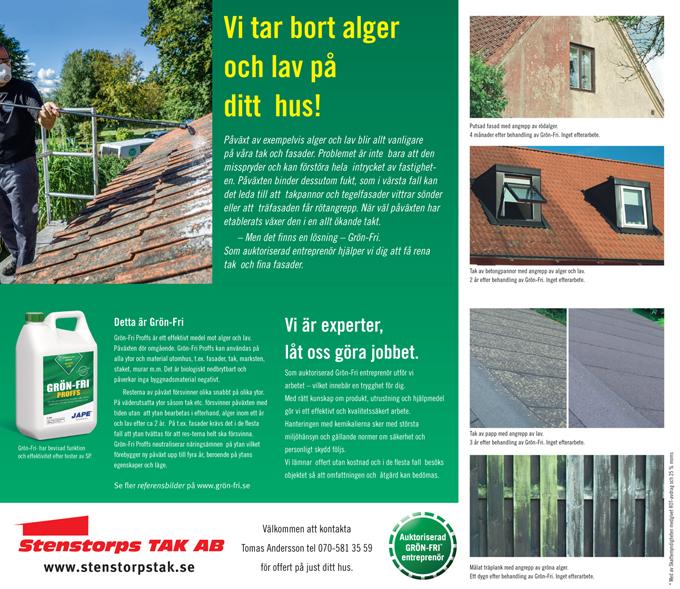 Informationsblad på Grön Fri - Vi är proffs på papptak och plåtslageriarbeten, sedumak, papptak tätskikt takläggare takpapp pvc-duk