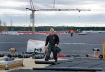 Lite fler bilder på att vi är Proffs på papptak och plåtslageriarbeten, sedumak, papptak tätskikt takläggare takpapp pvc-duk